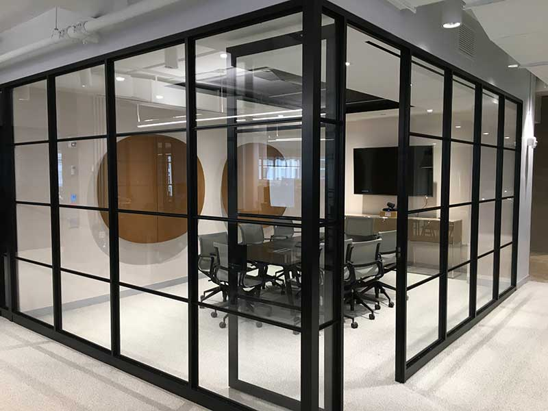 Architectural Glass Wall Installation